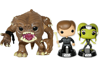 Star Wars Pop! Vinyl FigurenSet Rancor, Luke, Oona
