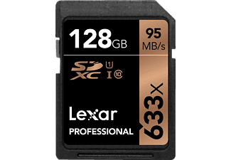 LEXAR Lexar SDXC Card 128GB 633x Professional Class 10 UHS-I , 128 GB