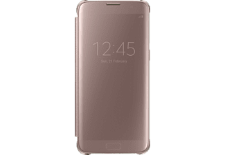 SAMSUNG Clear View Cover, Galaxy S7 edge, Pink/Gold