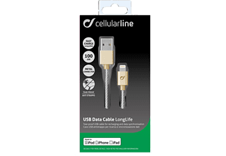 CELLULAR LINE CL Cata Cable Long Life Gold - (USBDATACLLMFIIPH6H)