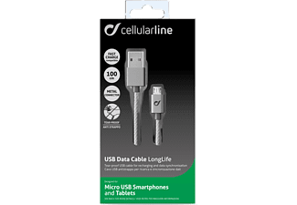 CELLULAR LINE CL Data Cable Long Life Grey - (USBDATACLLMUSBD)