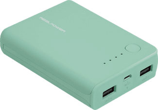 REALPOWER PB-10k Powerbank 10000 mAh Blau