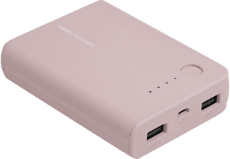 REALPOWER PB-10k, Powerbank, Rosa