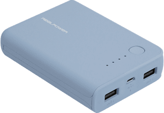 REALPOWER PB-10k, Powerbank, Blau