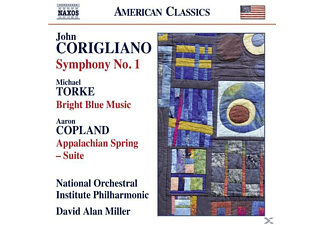 David Alan/National Orch.Institute Phil. Miller - Sinfonie 1/Bright Blue Music/Appalachian Spring - (CD)