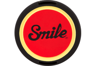 SMILE PIN UP 55 mm Objektivdeckel, Schwarz/Rot