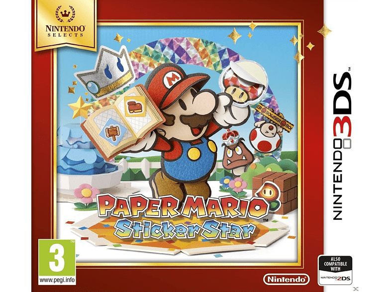 Paper Mario Sticker Star Selects Nintendo 3DS gaming games nintendo 2ds  3ds games gaming φορητές κονσόλες games 2ds  3ds