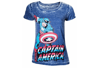Marvel T-Shirt -XXL- Captain America, blau
