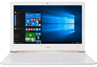 ACER Aspire S 13 (S5-371-74YU), Notebook mit 13.3 Zoll Display, Core™ i7 Prozessor, 8 GB RAM, 512 GB SSD, HD-Grafik 520, Weiß