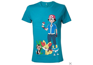 Heren T-shirt - Pokémon Groen, maat XL | T-Shirt