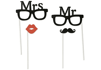 Mr. & Mrs. Party Set 4 tlg. Foto Verkleidung