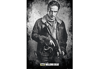 The Walking Dead Poster Rick Black and White