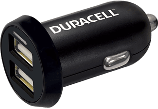 DURACELL Car Charger Dual USB Output 3.4A Black - (DR5015A)