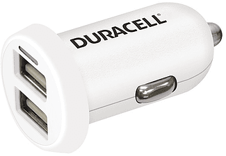DURACELL Car Charger Dual USB Output 3.4A White - (DR5015W)