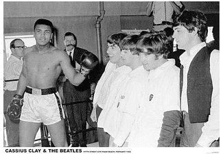 Muhammad Ali Poster Cassius Clay & The Beatles