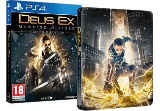 Deus Ex: Mankind Divided Day One Edition Steelbook für PlayStation 4