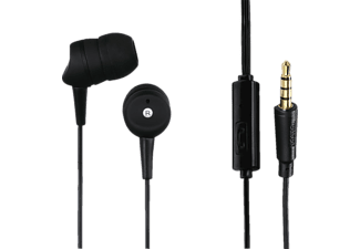 HAMA Basic, In-ear Headset, Headsetfunktion, Schwarz