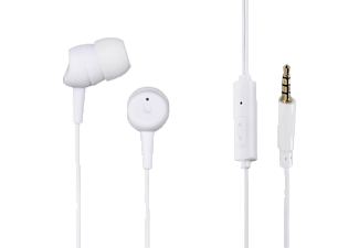 HAMA Basic, In-ear Headset, Headsetfunktion, Weiß