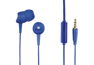 HAMA Basic, In-ear Headset, Headsetfunktion, Blau