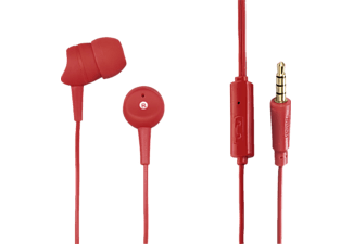 HAMA Basic, In-ear Headset, Headsetfunktion, Rot