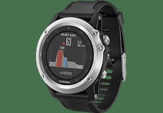 GARMIN fenix 3 HR, GPS Multisportuhr, 238 mm, Schwarz/Silber