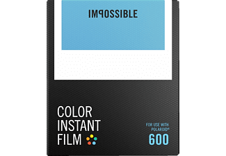 IMPOSSIBLE Color Film für 600 Film für Polaroid 600, mit fest verbauter Batterie, Color Film