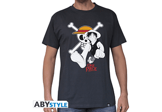One Piece - Luffy & Emblem T-Shirt Größe M