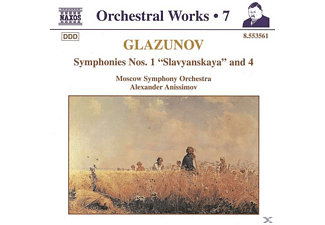 Alexander Moscow Symph.orch. & Anissimov, Alexander/moso Anissimov - Sinfonien 1+4 - (CD)