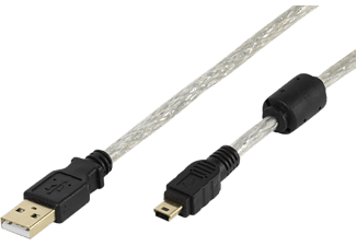 VIVANCO VIVANCO High-grade USB 2.0 certifierad kabel - Svart