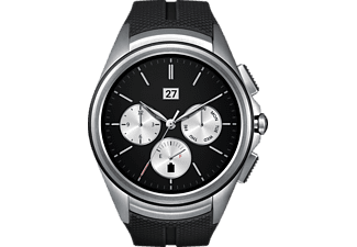 LG  Watch Urbane 2nd Edition Smart Watch Silikonband, Schwarz