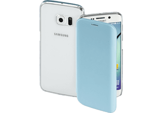 HAMA Clear, Bookcover, Galaxy S6 edge, High-Tech-PU/Kunststoff, Lichtblau