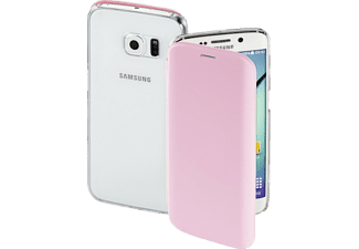 HAMA Clear, Bookcover, Samsung, Galaxy S6 Edge, High-Tech-Polyurethan (PU)/Kunststoff, Rosa
