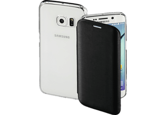 HAMA Clear, Bookcover, Samsung, Galaxy S6 Edge, High-Tech-Polyurethan (PU)/Kunststoff, Schwarz