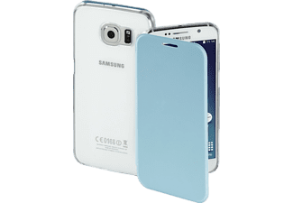 HAMA Clear, Bookcover, Galaxy S6, High-Tech-PU/Kunststoff, Lichtblau