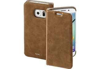 HAMA Guard Case, Bookcover, Galaxy S6 Edge, Kunstleder, Braun