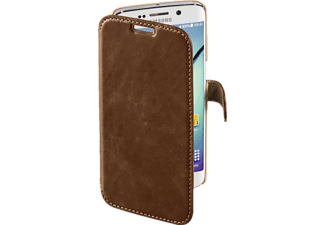HAMA Prime Line, Bookcover, Galaxy S6 edge, Leder (Obermaterial), Country-Braun