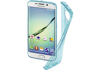 HAMA Clear, Backcover, Galaxy S6 Edge, Thermoplastisches Polyurethan (TPU), Blau