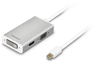 MACALLY MiniDP to HDMI/DVI/VGA adapter with Ultra HD (4K) support - (MD-3N1-4K)