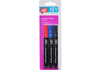 ISY Permanent Marker, 3er Pack Permanent Marker in 3 Farben