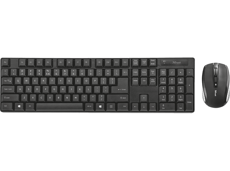 TRUST Ximo Wireless Keyboard and Mouse laptop  tablet  computing  περιφερειακά πληκτρολόγια   ποντίκια