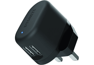 CYGNETT Flow Charger 5V 2.4A Dual USB Wall charger (Χωρίς καλώδιο) UK plug - (CY1602POFLO)