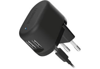 CYGNETT Flow Charger 5V 2.4A Dual USB Wall Charger με καλώδιο micro USB  EU plug - (CY1608POFLO)