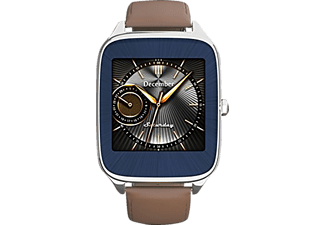 ASUS  ZenWatch 2 Smart Watch Leder, 115 mm, Silber/'Braun