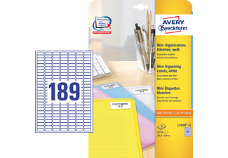 AVERY ZWECKFORM L7658-25, Mini-Organisations-Etiketten