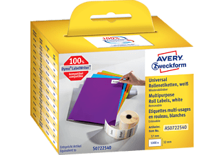 AVERY ZWECKFORM AS0722540 ROLLENETIKETTEN UNIVERSAL57X32MM 1000ST Universaletiketten