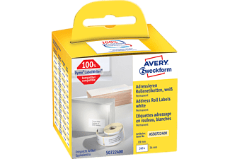 AVERY ZWECKFORM ASS0722400 ROLLENETIKETTEN ADRESSIERE 89X36MM 260S