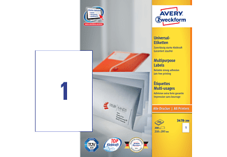 AVERY ZWECKFORM 3478-200 UNIVERSAL-ETIKETTEN PERMANENT 210X297MM
