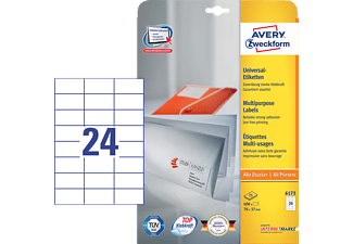 AVERY ZWECKFORM 6173 70x37 mm Universaletiketten