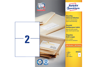 AVERY ZWECKFORM LR3655 RECYCLING UNIVERSAL-ETIKETTEN 210X148MM