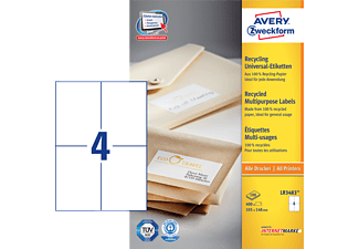AVERY ZWECKFORM LR3483 RECYCLING UNIVERSAL-ETIKETTEN 105X148MM